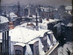 CAILLEBOTTE Gustave|雪を被った屋根